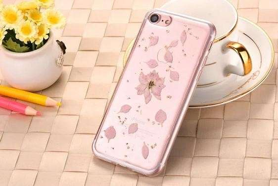case iphone aliexpress flores secas